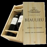 Geschenkkist Chateau Beaulieu AC. Côtes de Bourg